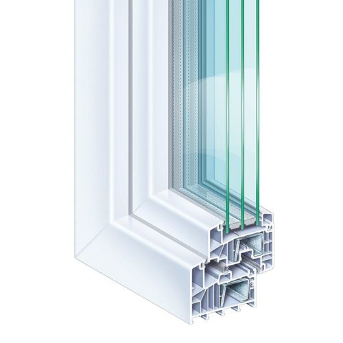 PVC window from site